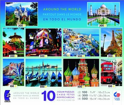 10-in-1 Multi Pack Around The World Jigsaw Puzzle 3400 pcs