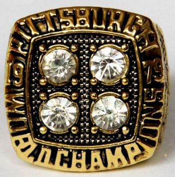 NFL Pittsburgh Steelers Super Bowl XlV 1979 Championship Replica Ring Size 10