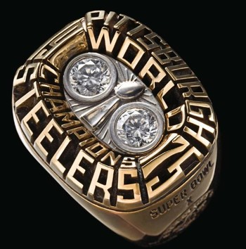NFL Pittsburgh Steelers Super Bowl X 1975 Championship Replica Ring Size 12