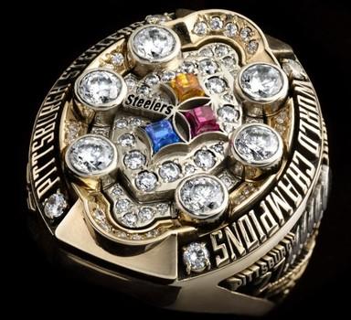NFL Pittsburgh Steelers 2008 XLIII Super Bowl Championship Replica Ring Size 10