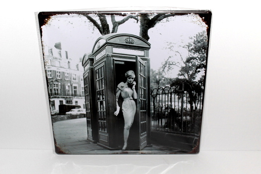 Vintage Looking Black & White England Metal Sign