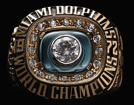 NFL Miami Dolphins 1972 Undefeated Championship Replica Ring Size 11