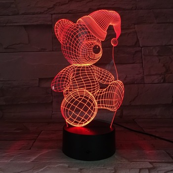 Bear Shape 3D Acrylic LED Lamp Night Light
