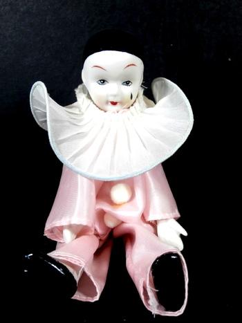 Vintage Collectors Porcelain Face & Hands Clown Jester