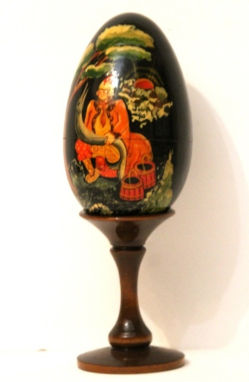 New Rare Russian Icon Orthodox Egg Hand Painted Exclusive Retail $650.00