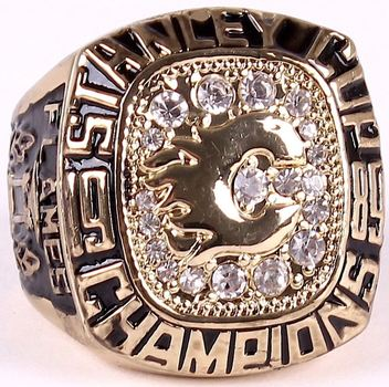 NHL Lanny McDonald Calgary Flames 1989 Stanley Cup Championship Replica  Ring Size 10