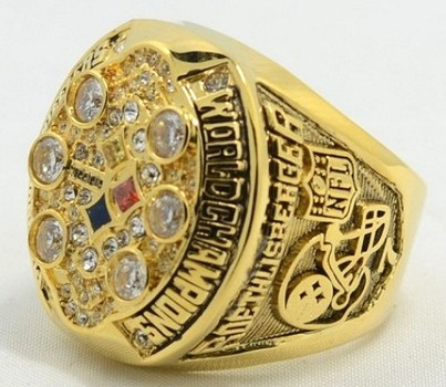 NFL Pittsburgh Steelers 2008 XLIII Super Bowl Replica Ring Size 11