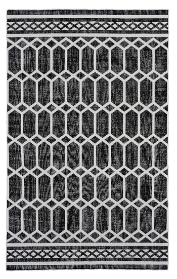 GRANADA Collection Noir Patterned Rug - Retail 69.99