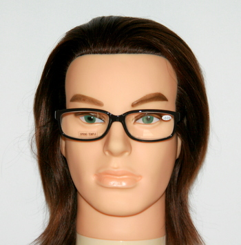 New Joy Mangano Reading Glasses Black With Wood Style Arms +3.5 Prescription