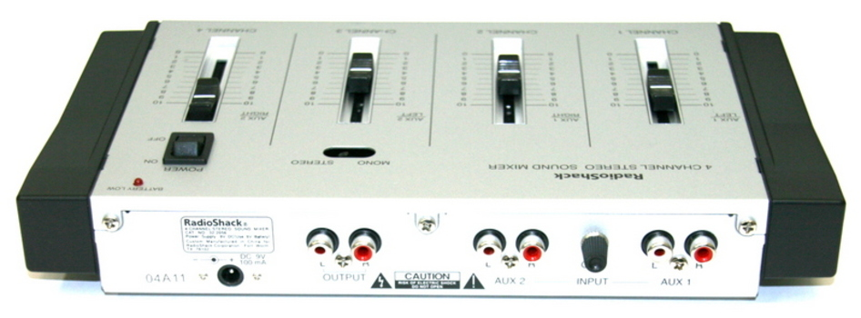 Radio-Shack 4-Channel Stereo Microphone Mixer