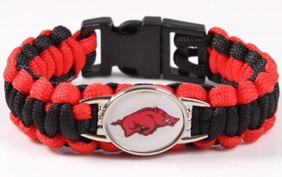 NCAA Arkansas Razorbacks Paracord Bracelet
