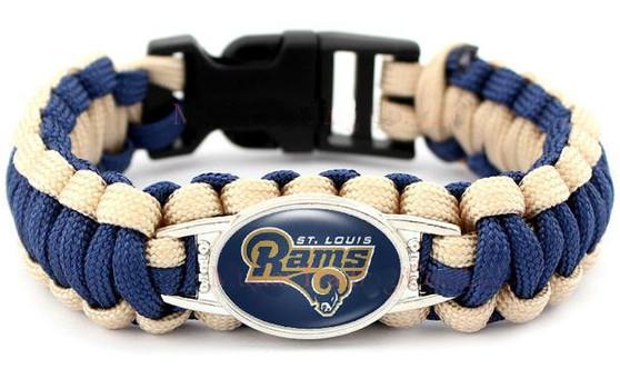 NFL Rams Paracord Bracelet