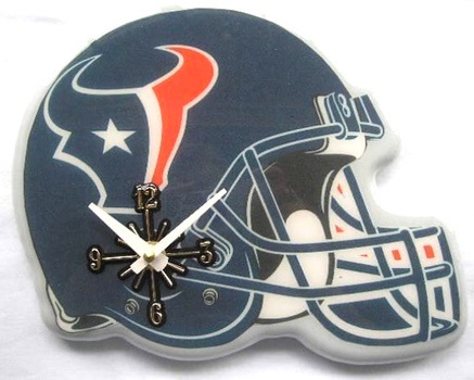 NFL Huston Texans Helmet Wall Clock