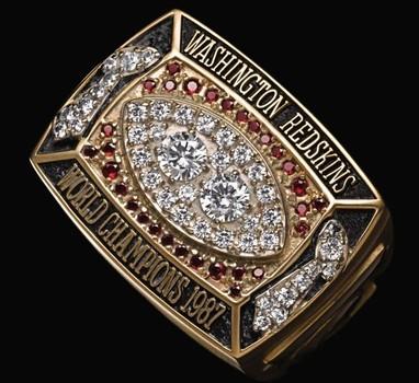Washington Redskins 1987 Super Bowl XXII World Championship Replica Ring Size 10