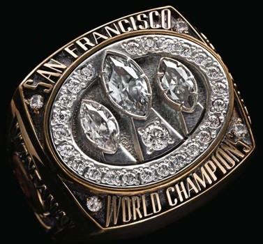 San Francisco 49-ers Super Bowl XXIII World Championship Replica Ring Size 10