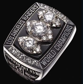 Los Angeles Raiders 1984 Super Bowl XVIII Championship Replica Ring Size 12
