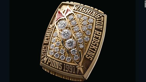Washington Redskins Super Bowl XXVI World Championship Replica Ring Size 9