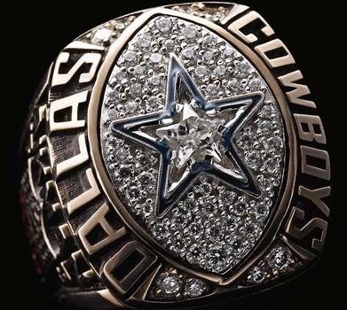 Dallas Cowboys Super Bowl XXVII World Championship Replica Ring Size 10