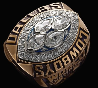 NFL Dallas Cowboys Super Bowl XXVIII Replica Ring Size 10