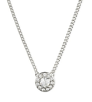Givenchy Stone & Crystal Halo Pendant Necklace