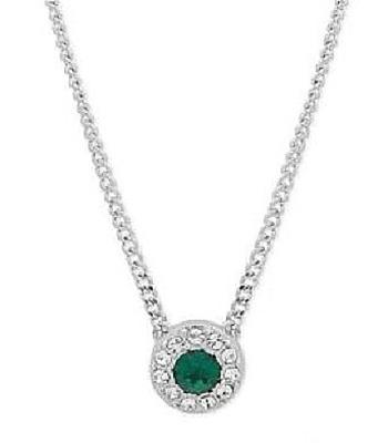 Givenchy Stone & Crystal Halo Pendant Necklace