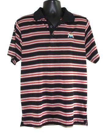 MLB Miami Marlins Golf Shirt Size Medium