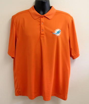 Miami Dolphins Cutter & Buck Golf Shirt Size XX-Large