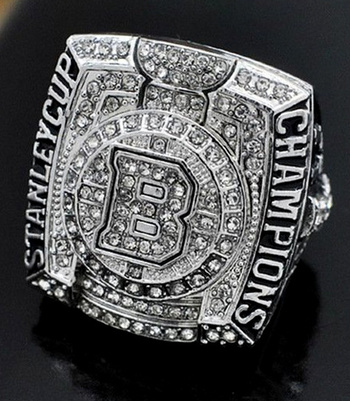 Boston Bruins Stanley Cup Champions 2011 Replica Ring Size 11