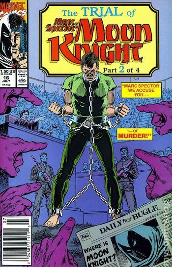 1990 Moon Knight 16 July Issue - Marvel Comics
