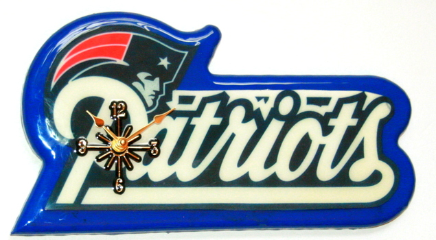 New England Patriots NFL Wall Clock