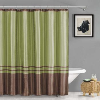 "Duck River Textile Sabrina Faux Silk Stripe Mildew Resistant Shower Curtain  70"" x 72"""