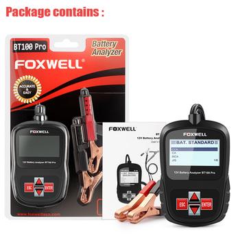 FOXWELL BT100 12V Car Digital Battery Tester Analyzer For Flooded, AGM, GEL Retail $89.99