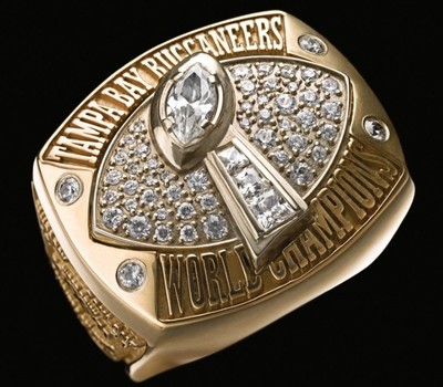 NFL Tampa Bay Buccaneers Super Bowl XXXVII Championship Replica Ring Size 12
