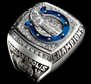 Indianapolis Colts Super Bowl XLI Championship Replica Ring Size 10