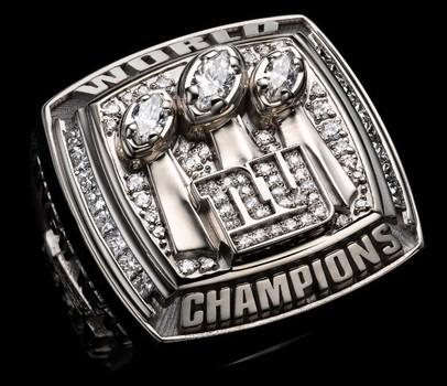 NFL New York Giants Super Bowl XLII Replica Ring Size 10