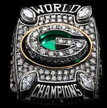 Green Bay Packers Super Bowl XLV World Championship Replica Ring Size 10