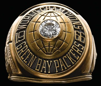Green Bay Packers Super Bowl World Championship Replica Ring Size 12