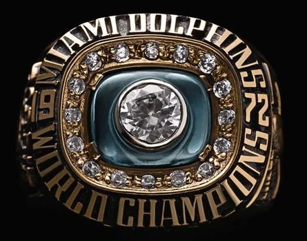 Miami Dolphins 1972 Super Bowl VII Replica Ring Size 9
