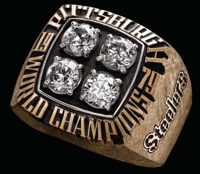 Pittsburg Steelers Super Bowl XIV World Championship Replica Ring Size 12