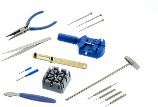 16-Piece Watch Repair Tool Kit