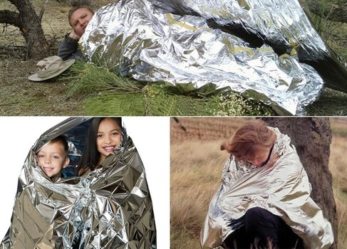 2 Pieces Emergency Blanket Set for Outdoors