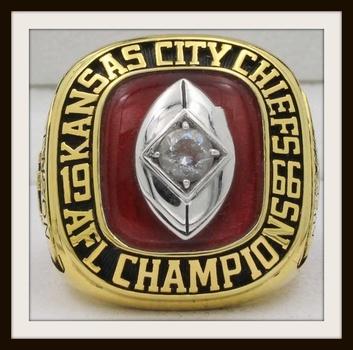 NFL Kansas City Chiefs 1966 AFL Championship Replica Ring Size 10
