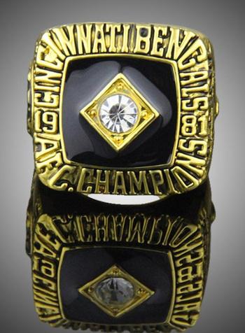 NFL Cincinnati Bengals Anderson 1981 AFC Championship Replica Ring Size 10