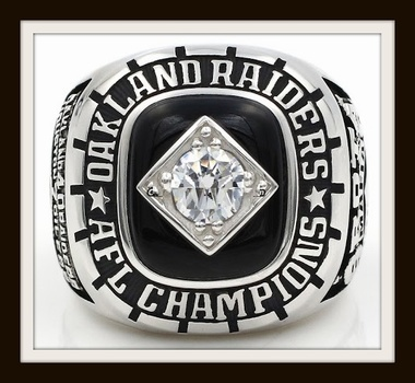 NFL Oakland Raiders 1967 AFC Championship Replica Ring Size 11