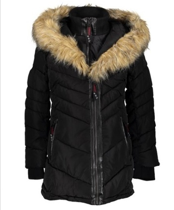 New CANADA WEATHER GEAR Women's HeavyWeight Bomber HOODED, Size Small