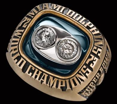 Miami Dolphins Super Bowl VIII Replica Ring Size 11