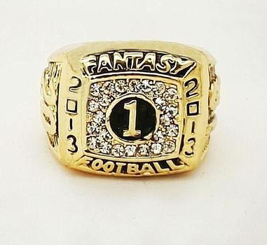 2013 Fantasy Football Replica National Championship Ring, Size 10