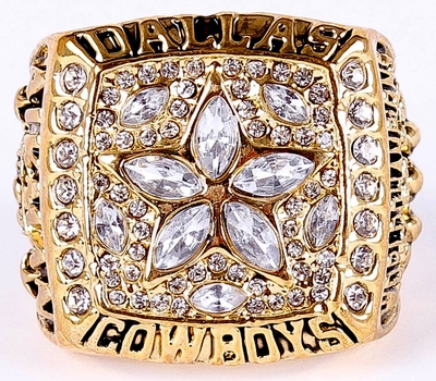 Dallas Cowboys 1995 Super Bowl XXX Championship Replica Ring Size 10