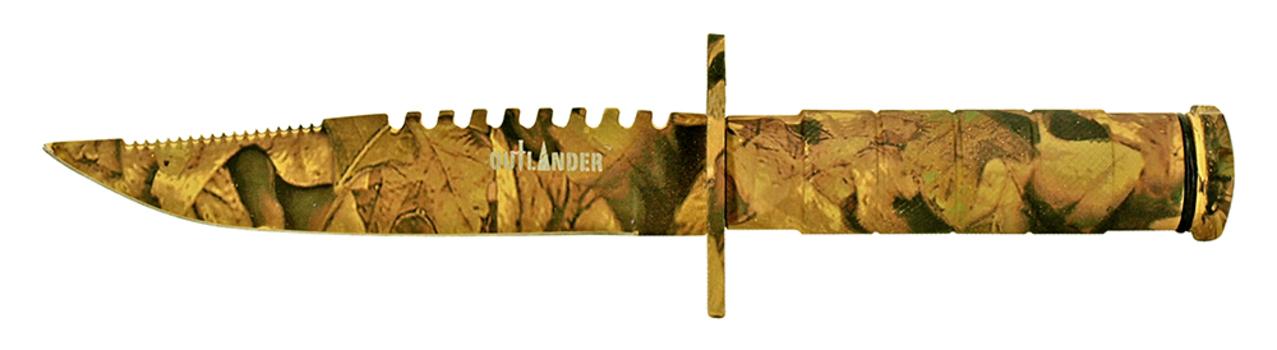 NEW OUTLANDER Woodland Camo Knife