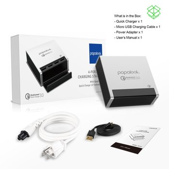 4 Port USB Charging Station Papalool